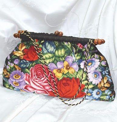 Bolsa - rosas e flores                                                       …