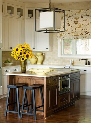 I like the warm tones in this kitchen.