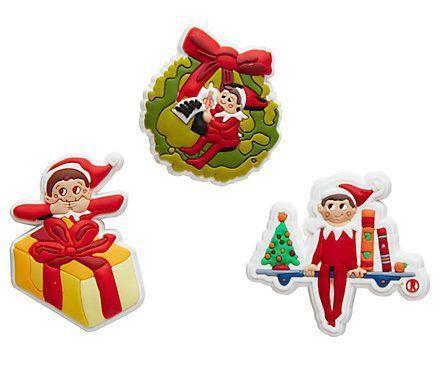 b22a5b9b99a500 Elf on the Shelf Crocs Jibbitz Shoe Charms Accessories 3-Pack Retired