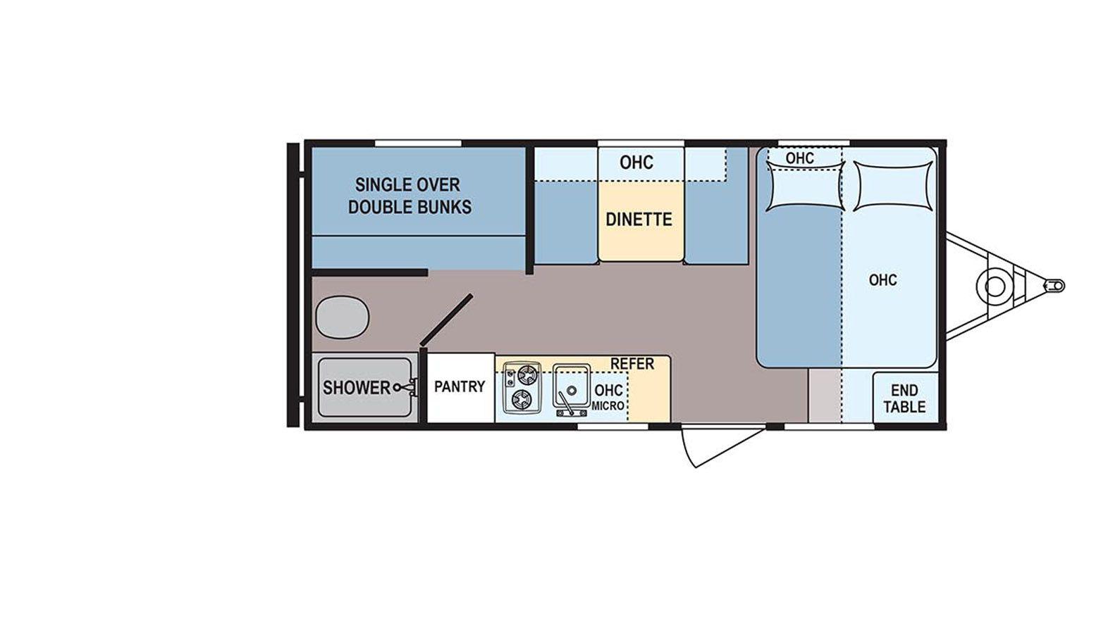 Coleman 17fq Lantern Lt Conventional Floorplan Details Travel Trailer Floor Plans Travel Trailer Floor Plans