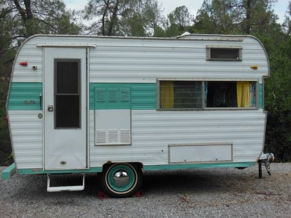 We Are Selling Our 1967 Aljo Sportsman Vintage Trailer Due To