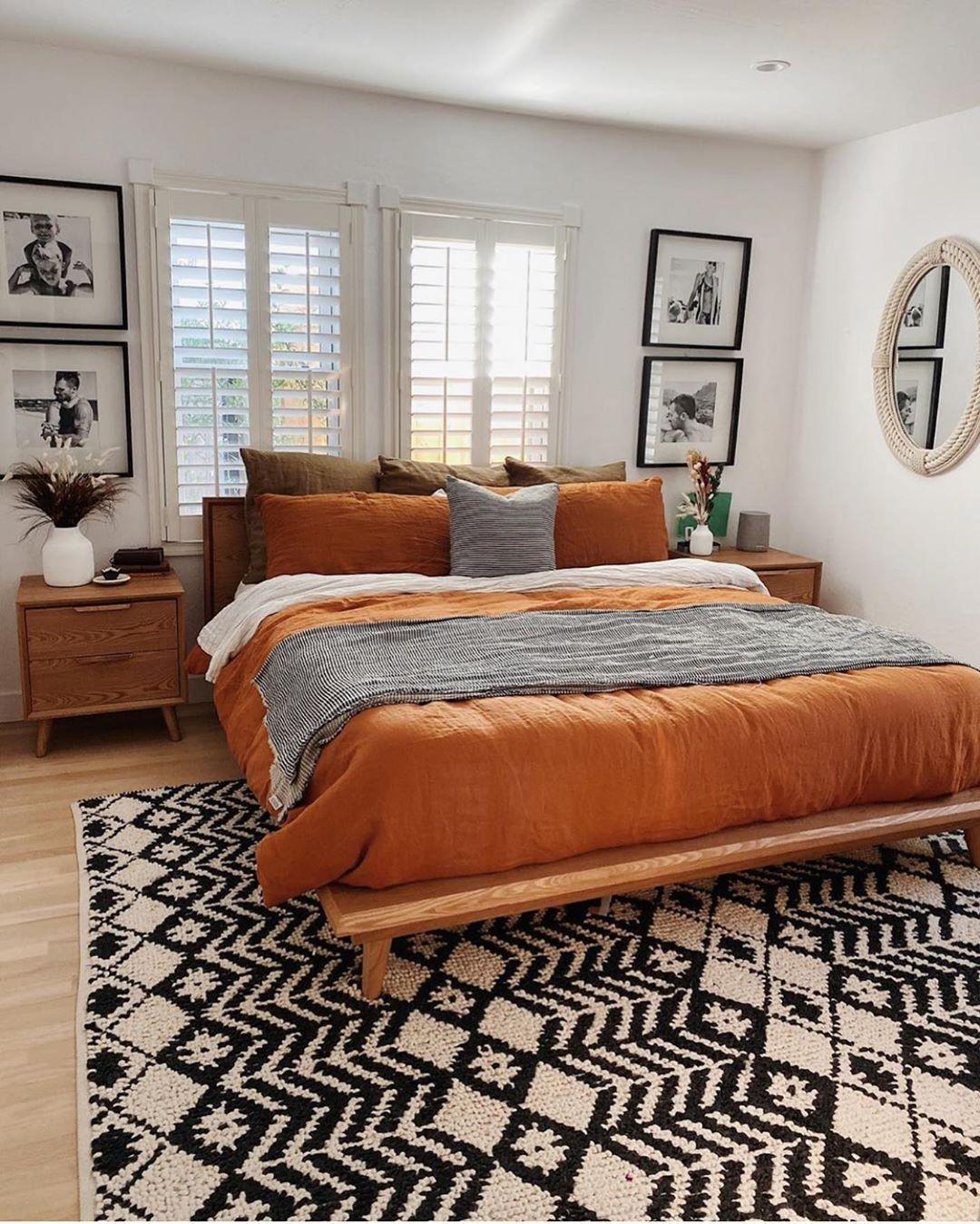 Mid CenturyBohoFarmhouse on Instagram: Pumpkin bed room? Im a fan!  (through @arrowsandbow) ____________________ . . . . . . . . . .  #homeinspo #inspire_me_home_decor #abmathome