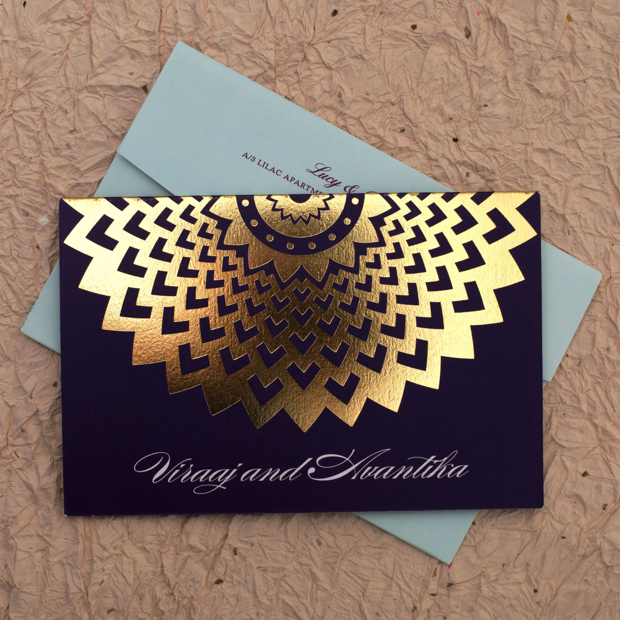 wedding invitation cards mumbai india%0A Golden Floral Blue  Wedding Invitation Cards Add a shine to your wedding  day with Golden
