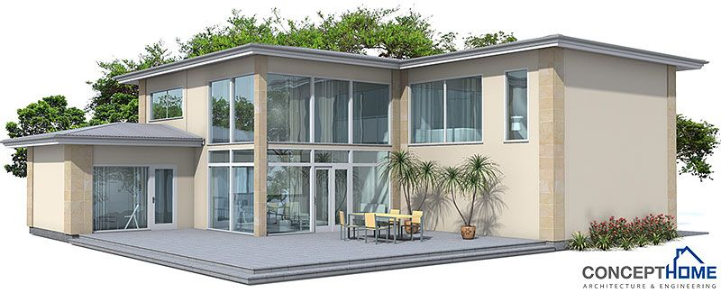 Large And Luxurious Contemporary Home Design Three Bedrooms Two Living Areas Spacious Living Dining Areas Modern Beach House American Houses House Plans