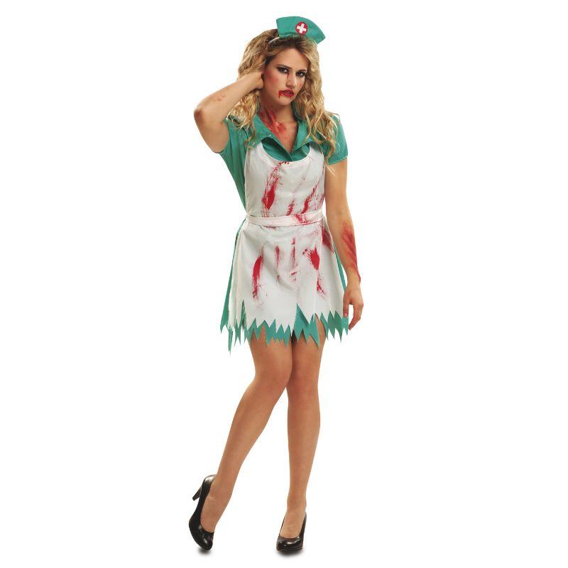 Disfraz de Enfermera Sangrienta Zombie #disfraces #halloween - imagenes de disfraces de halloween