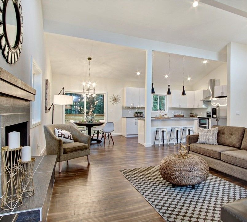 Living Room And Kitchen Stage By Synergy Staging: {STAGING} Gorgeous Reintree Remodel