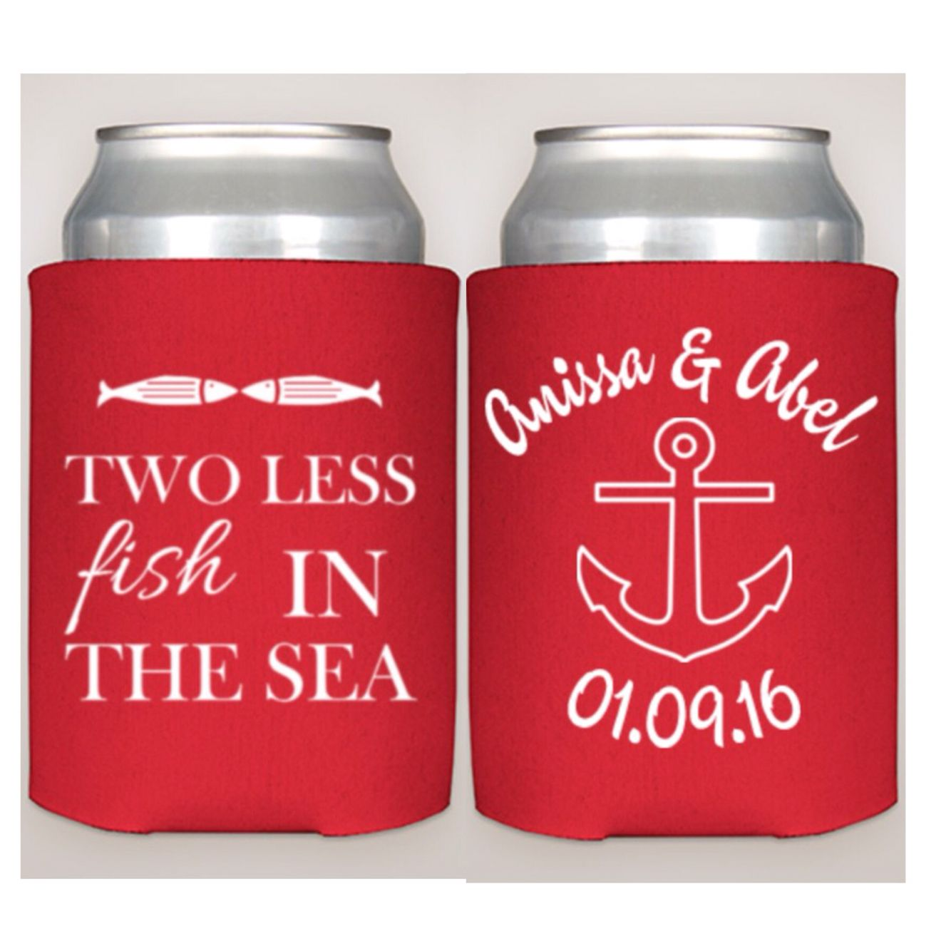 2 Less Fish In The Sea Etsy Drinkonitkoozies