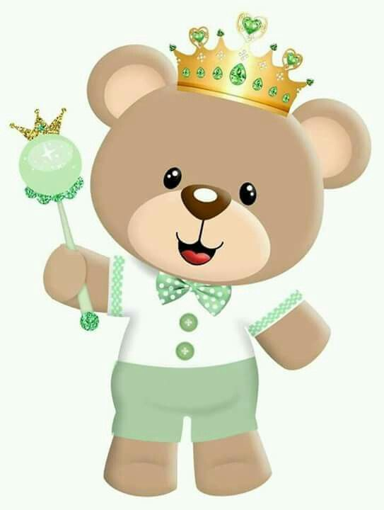 ursinho de coroa pintura pinterest ursinha princesa cha de