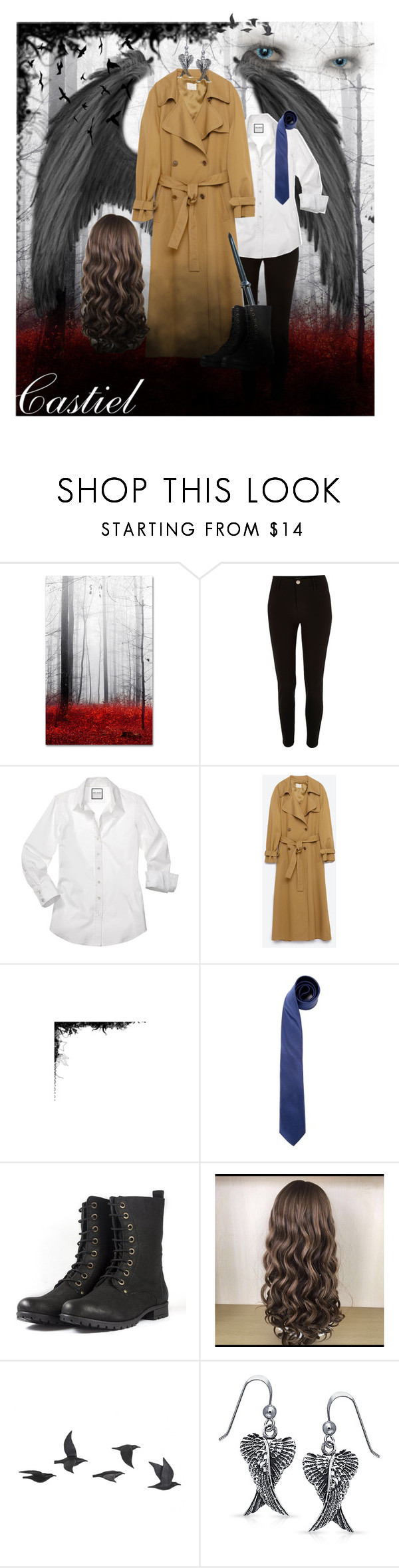 """""""Cass 💙"""" by my-chemical-fangirl ❤ liked on Polyvore featuring Trademark Fine Art, River Island, Dolce&Gabbana, Jayson Home, Bling Jewelry, WALL, supernatural and misha"""
