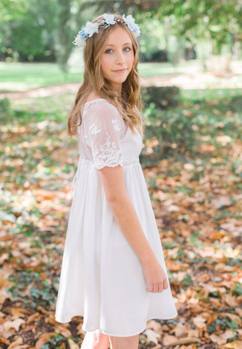 robe demoiselle d honneur fille ivoire