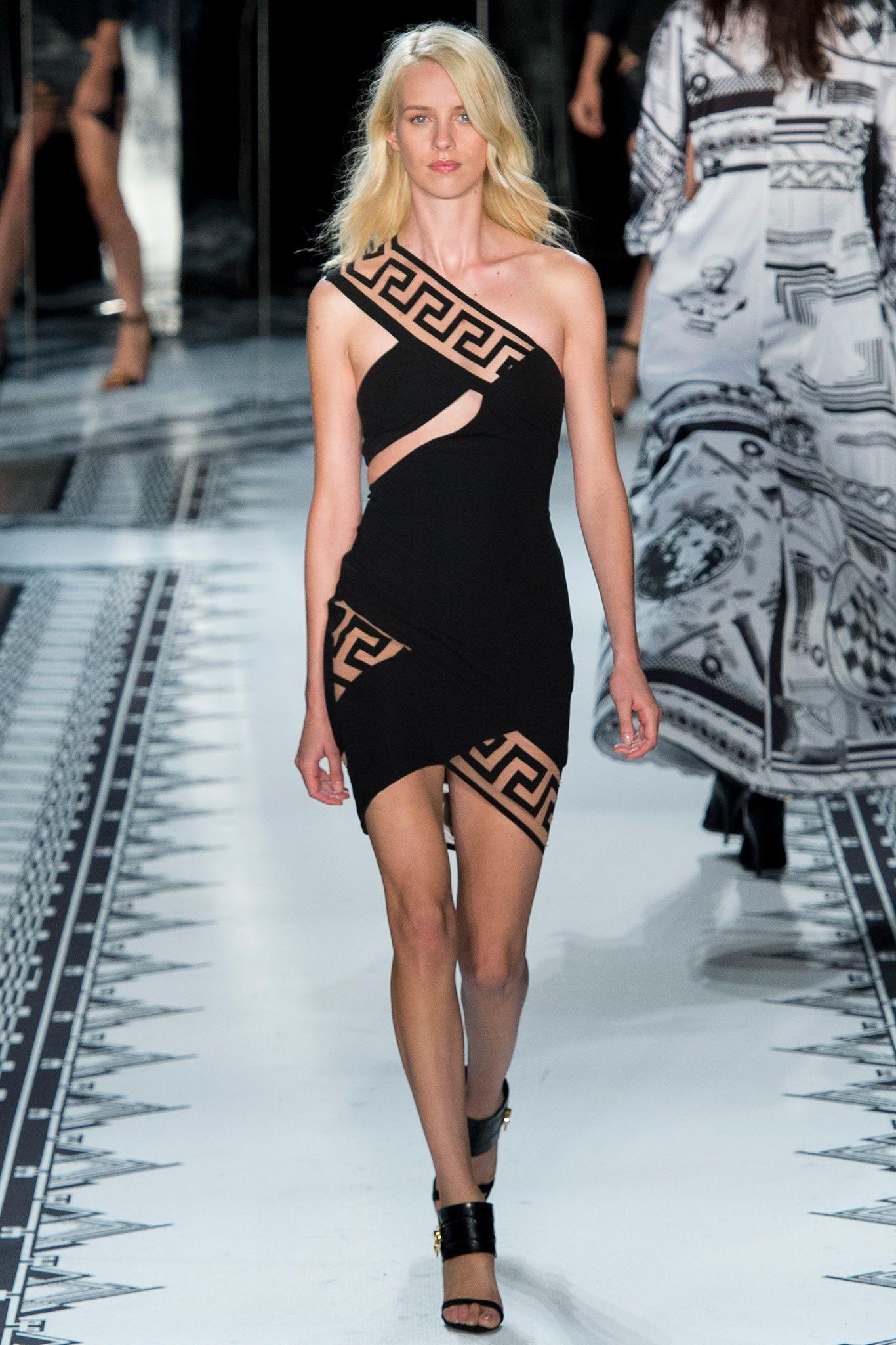 Versus Versace Spring ReadytoWear Black one shoulder