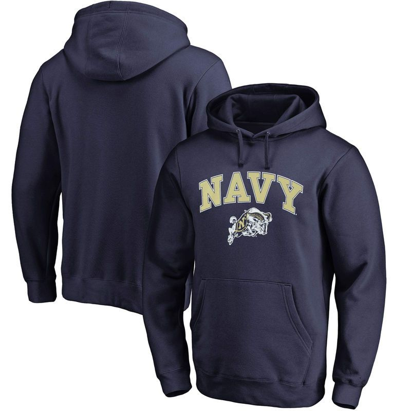 Fanatics Branded Navy Midshipmen Campus Pullover Hoodie - Navy