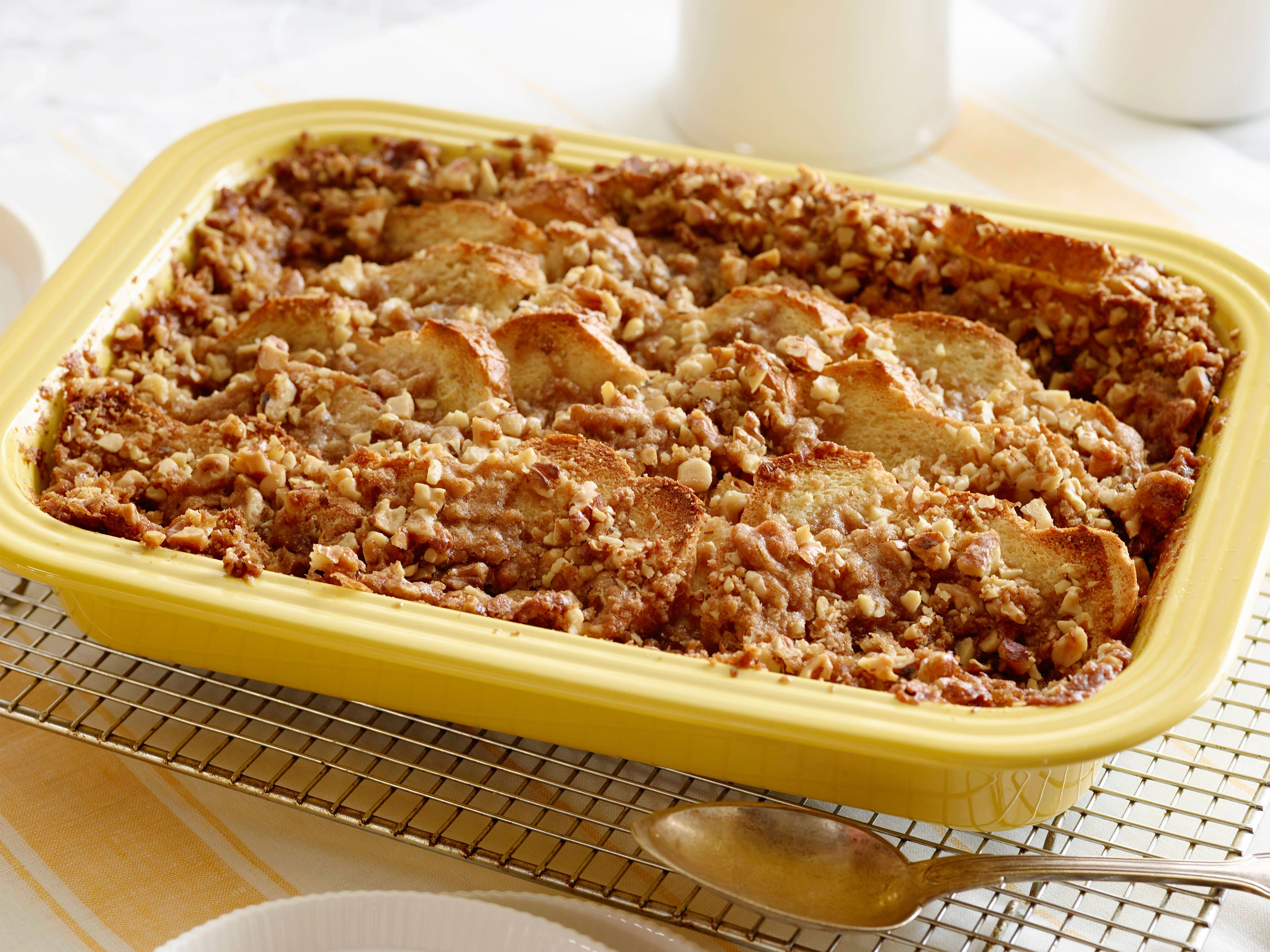 French Toast Casserole with Brown Sugar-Walnut Crumble