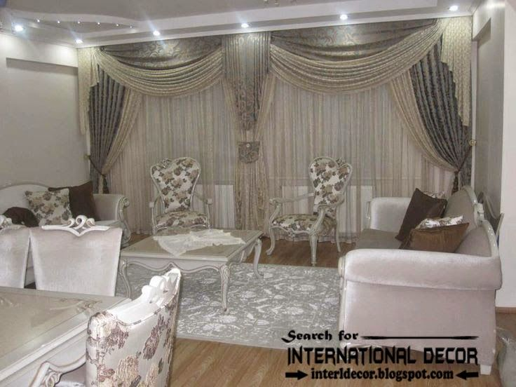 Contemporary Grey Curtain Designs For Living Room 2015 Window
