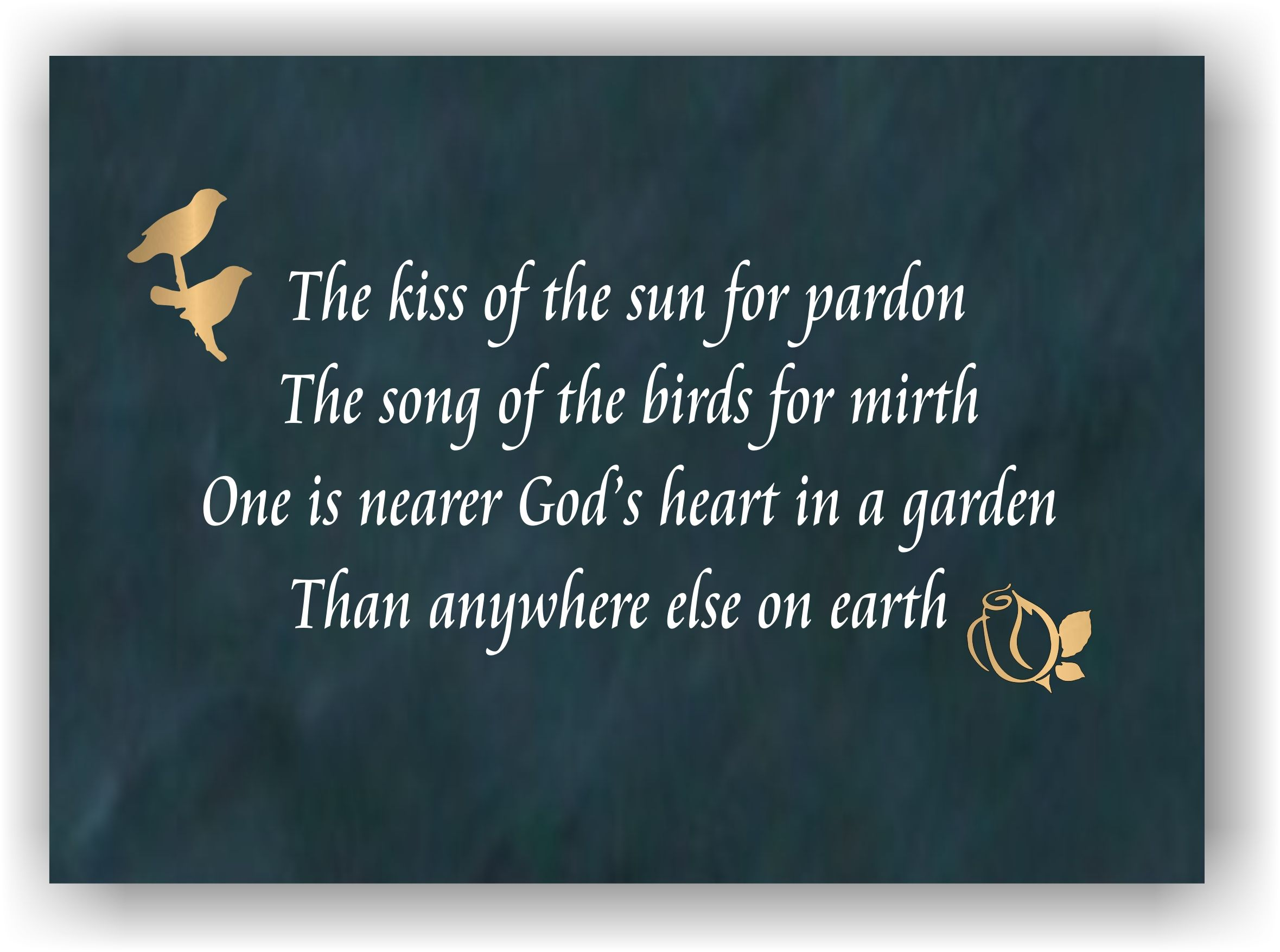 The Kiss Of The Sun For Pardon Plaque Notable Quotes