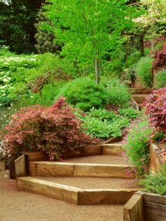 sloped stair design decomposed granite google search garden pinterest jardin en pente. Black Bedroom Furniture Sets. Home Design Ideas
