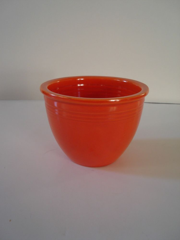 Vintage Fiesta Ware Early Radio Active Red #1 Mixing Bowl Beautiful Excellent Co #VintageFiestaWare