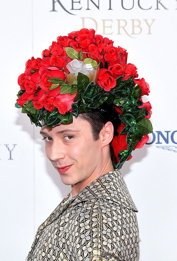 Johnny Weir at the Kentucky Derby, 2015
