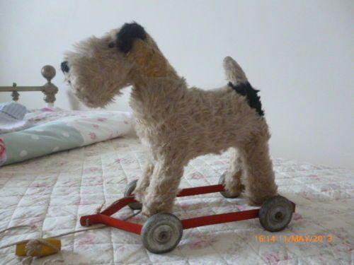 Old Push Along Dog By Pedigree Soft Toys Ltd