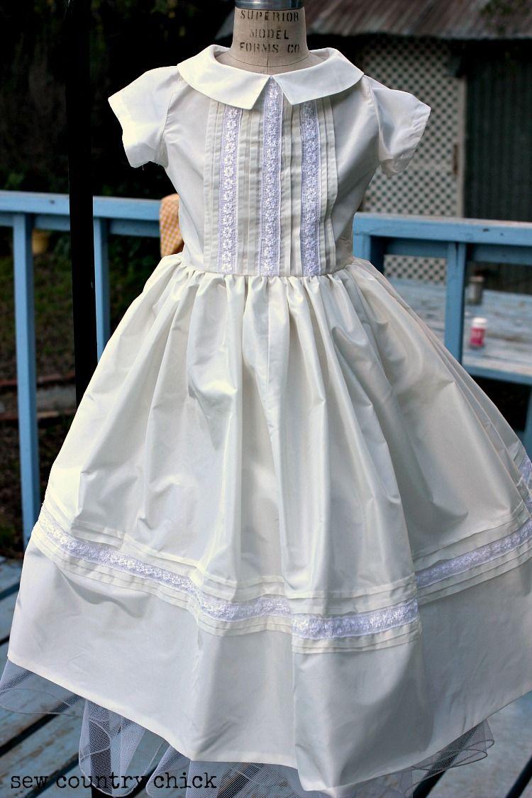 A Silk Taffeta First Communion Dress from a 1958 Pattern - Sew ...