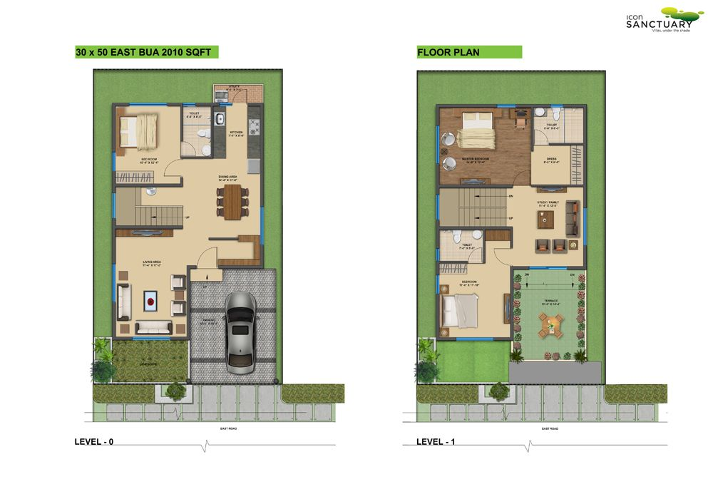 Awesome design 8 duplex house plans for 30x50 site east for 30x50 floor plans