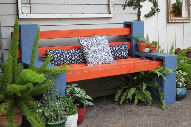 How To Make A Simple Outdoor Bench, How To Make Simple Garden Furniture