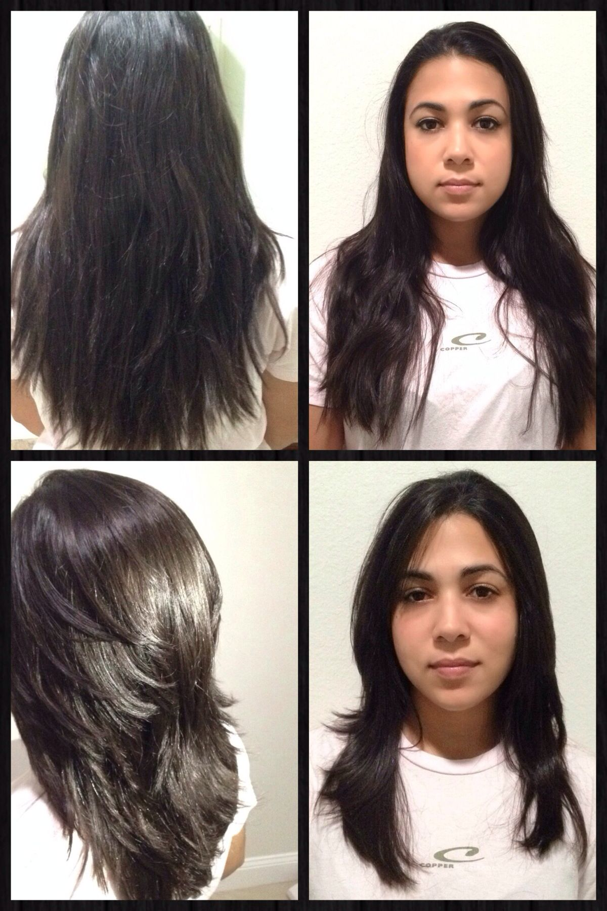 before and after concave layers hair and makeup by me adri hair