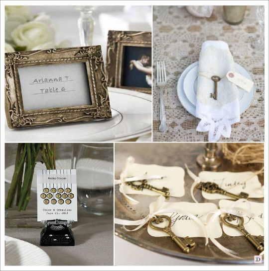 decoration mariage vintage retro d co de table table decorations place card holders et vintage. Black Bedroom Furniture Sets. Home Design Ideas