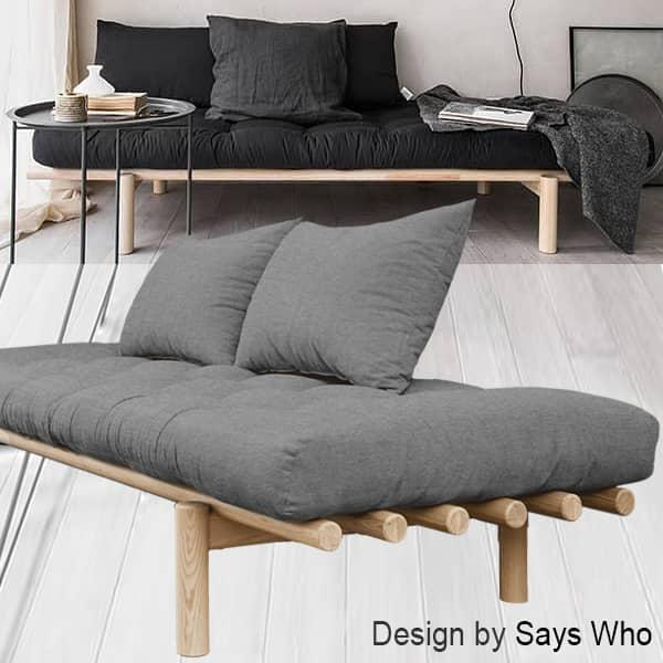 Pace Daybed And Chaise Longue Convertible Into Extra Bed Including Futon And Two Cushions Futon Chaise Daybed