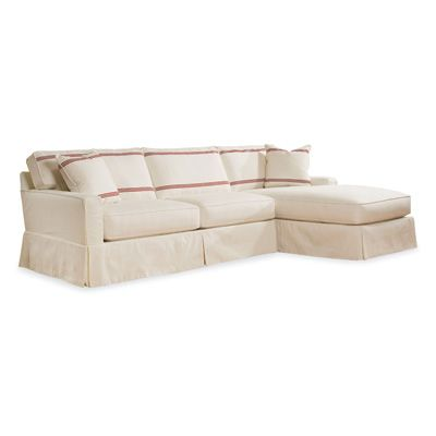 Slipcover Sofa With Chaise Lounge Several Fabric Choices 114 Wide