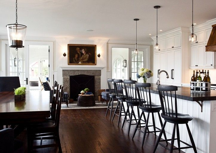dark modern country kitchen. Marcia Tucker Interiors  Kitchen Love The Modern Windsor Counter Chairs Modern Country KitchensCountry Kitchen DesignsDark
