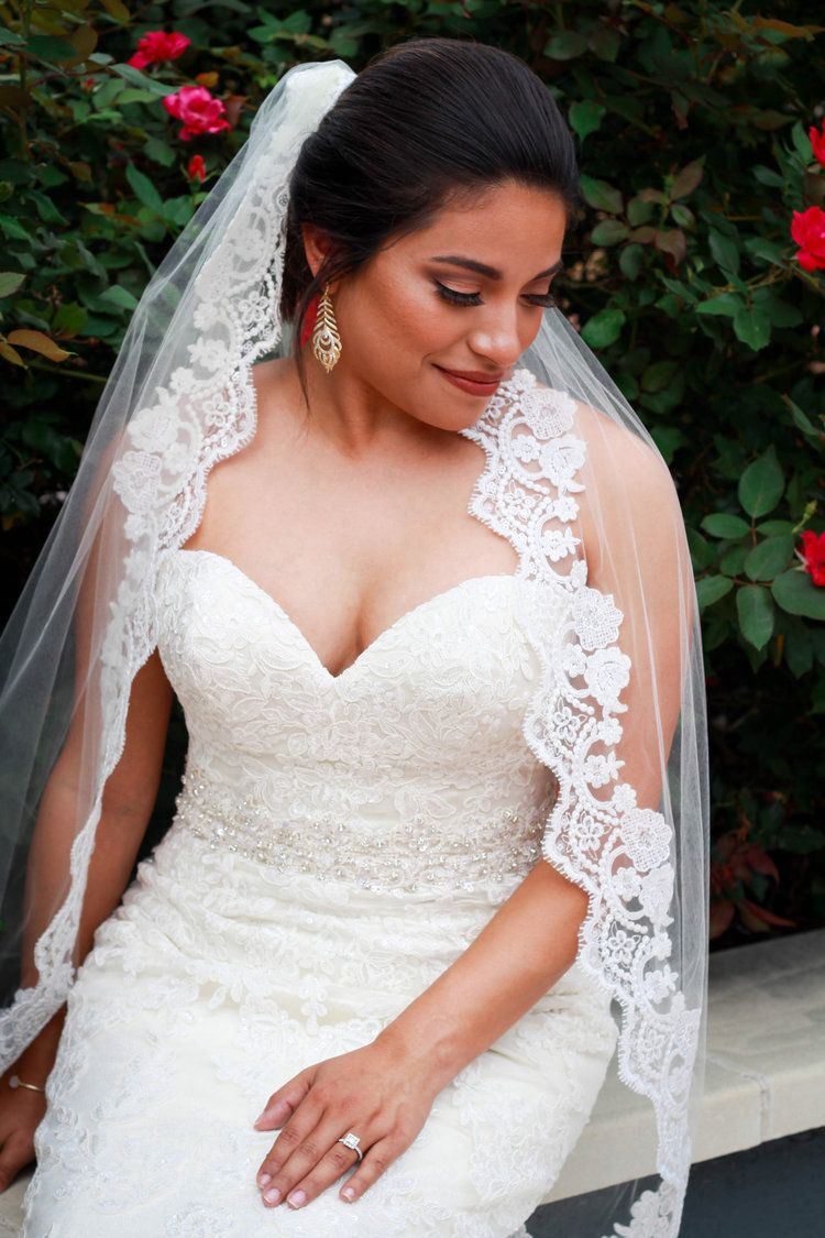 Sequined Lace Veil In 2020 Wedding Hairstyles With Veil Wedding