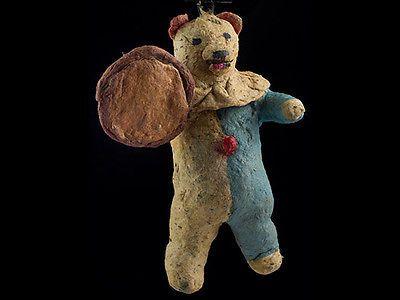 Vintage Vorkriegszeit Watte Russischen Christbaumschmuck BÄR Mit Trommel 54 | eBay