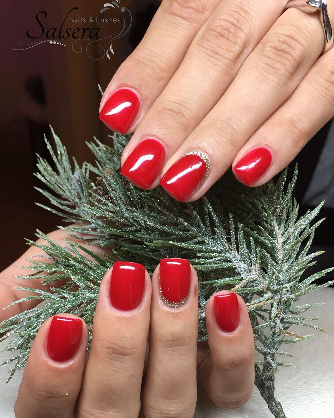 Nails Fullcover rot red Nageldesign shortnails kurze Nägel Square ...