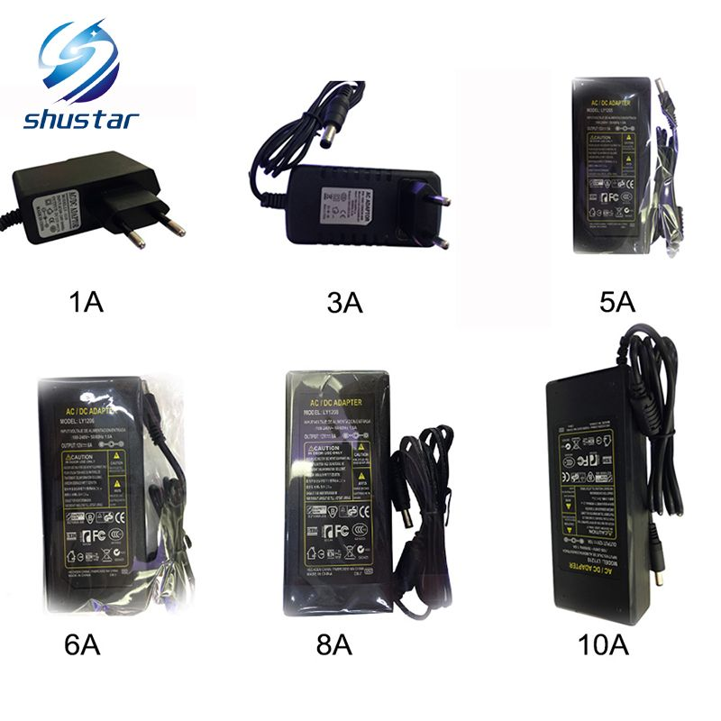 12v Led Strip Power Supply Adapter Eu Us Uk Au Plug For Ac 110 220v To Dc 12v 1a 2a 3a 5a 6a 8a 10a Transformer Light Accessories Led Power Supply Plug Socket