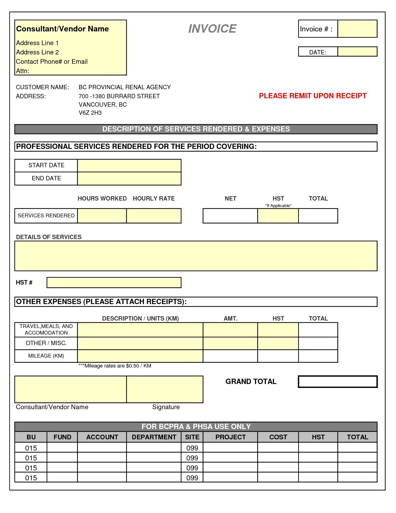 Simple Invoice Template Excel Jongblogcom BddFgQ For Work - Invoice simple vancouver