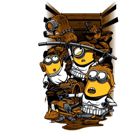 STAR WARS and Minions Trash Compactor Mashup Art — GeekTyrant