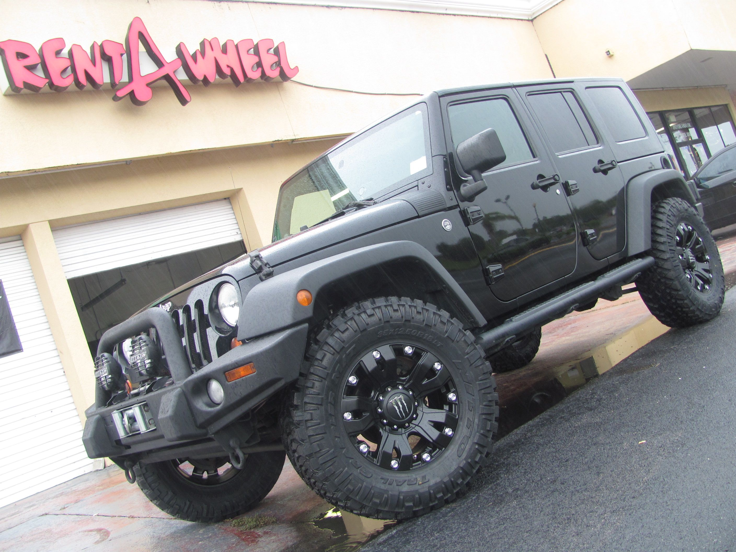 2008 jeep wrangler on 18 inch monster dropstar with 35 inch nitto trail grapplers
