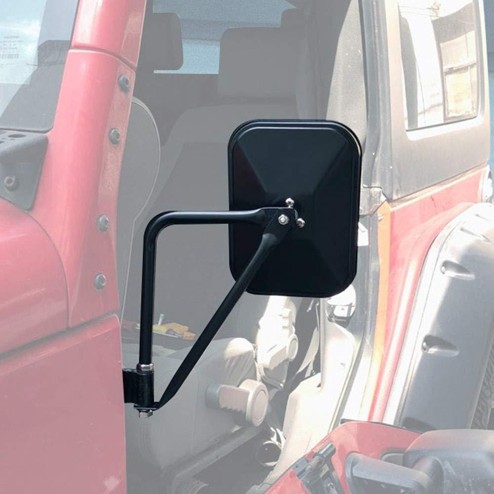 Door Hinge Mirror Fits All 1997 2017 Jeep Wrangler Textured Black Jeep Doors Jeep Wrangler Jeep