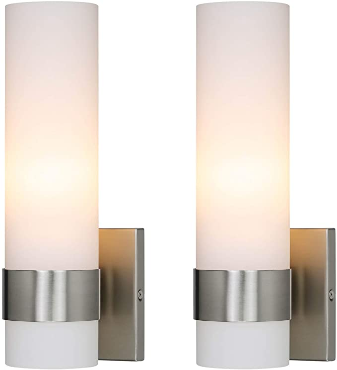 Xinbei Wall Light 2 Light Wall Lamp With Glass Modern Up Down Bathroom Vanity Lighting Brushed Nickel Finish For Bathroom Corridor Kitchen Xb W210 2 Bn Wall Lighting Fixtures Pina Lighting