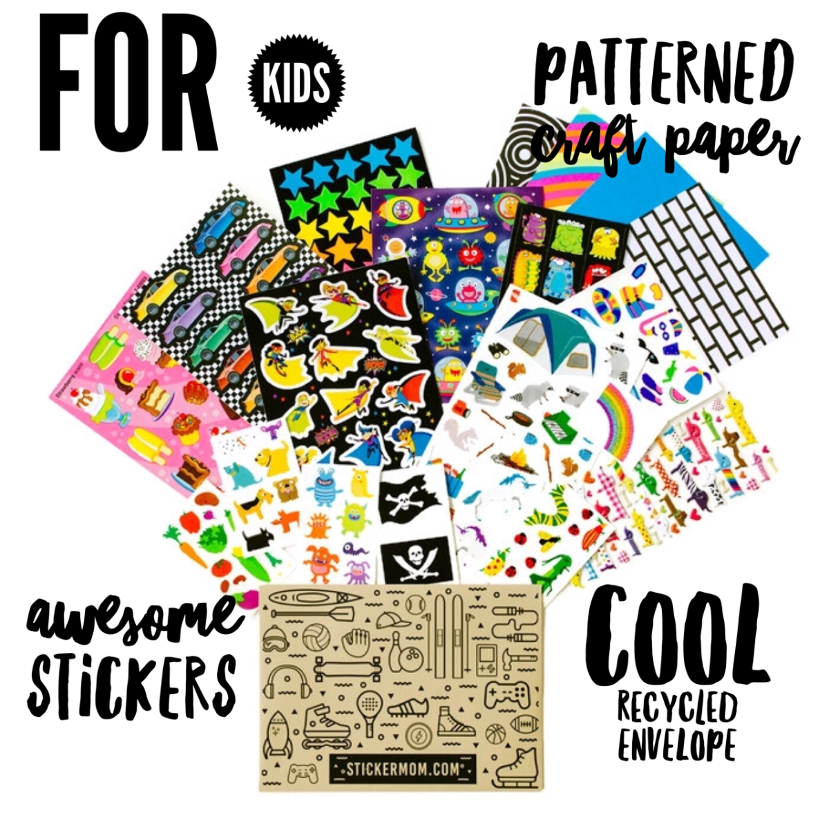 Monthly Sticker Subscriptions for Kids and Adults