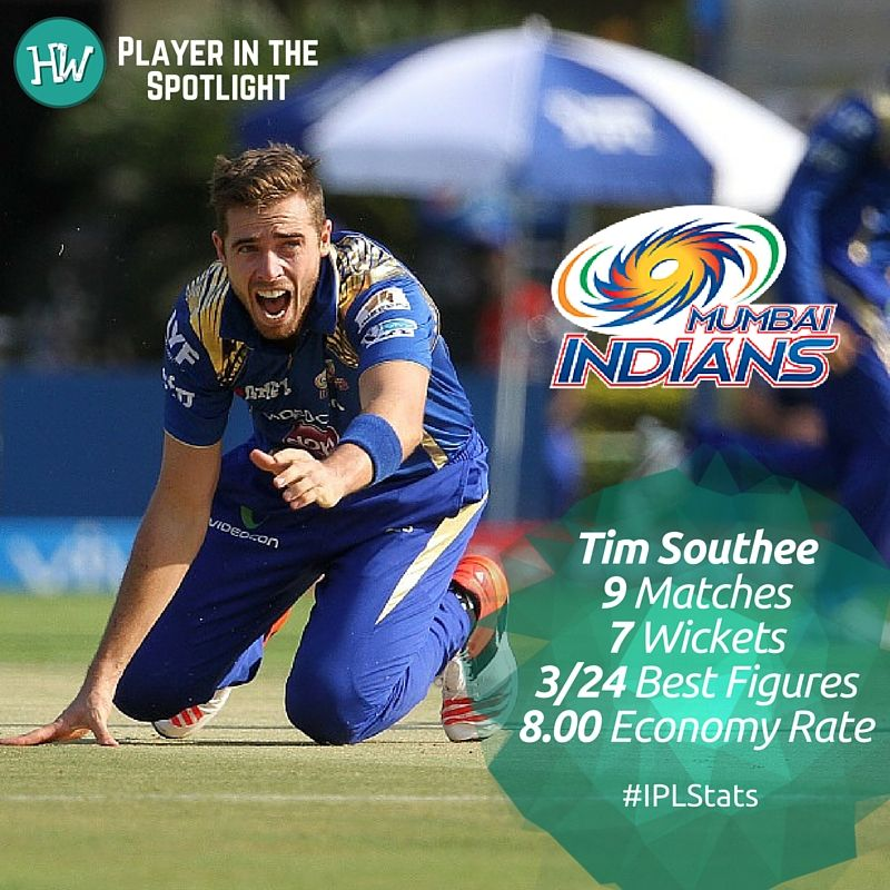 Our Player in the Spotlight for Mumbai Indians is Tim Southee! The Kiwis  have been