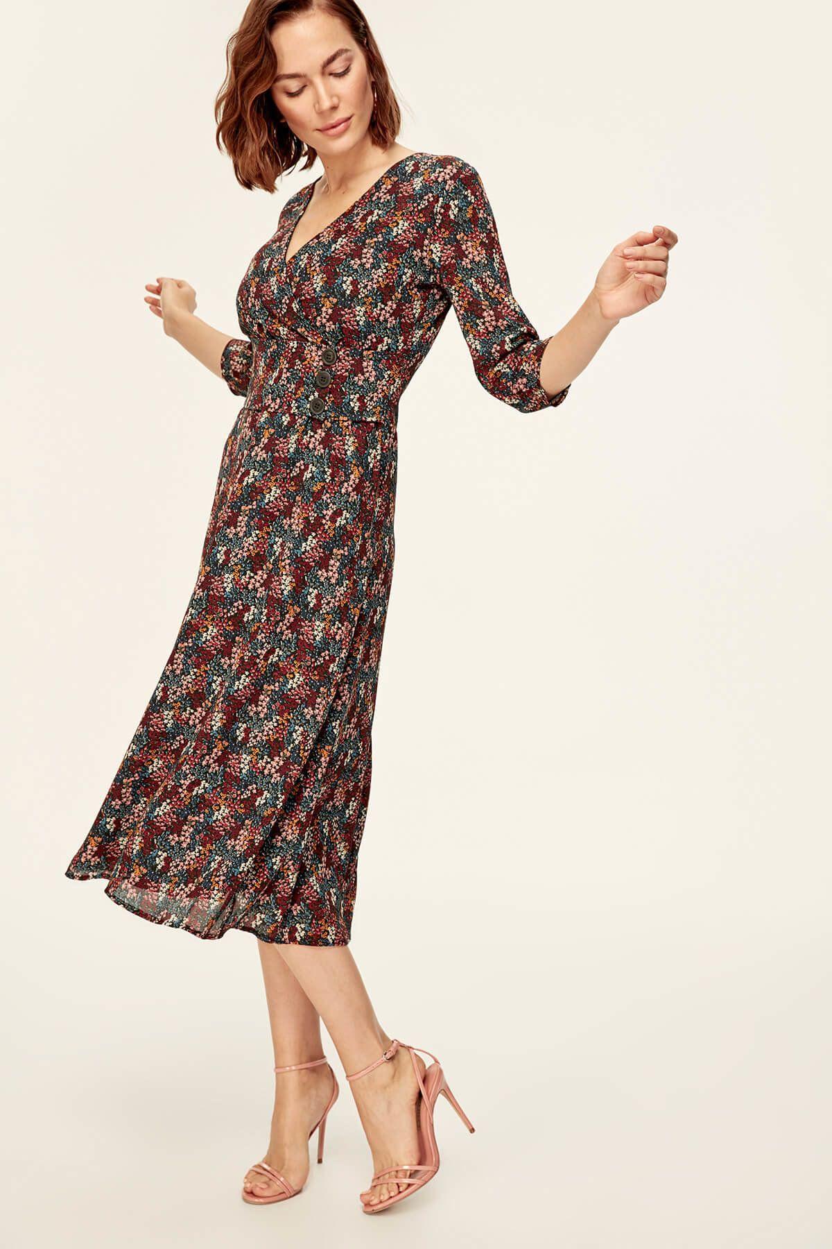 Cok Renkli Kusak Detayli Elbise Tofaw19yn0237 Trendyolmilla Trendyol Elbise