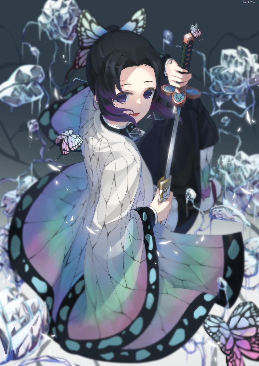胡蝶しのぶかっこいいイラスト