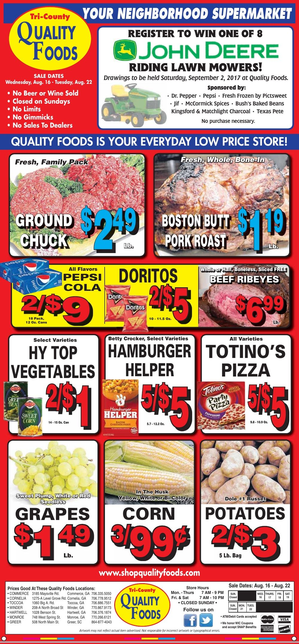 Quality Foods Weekly Ad