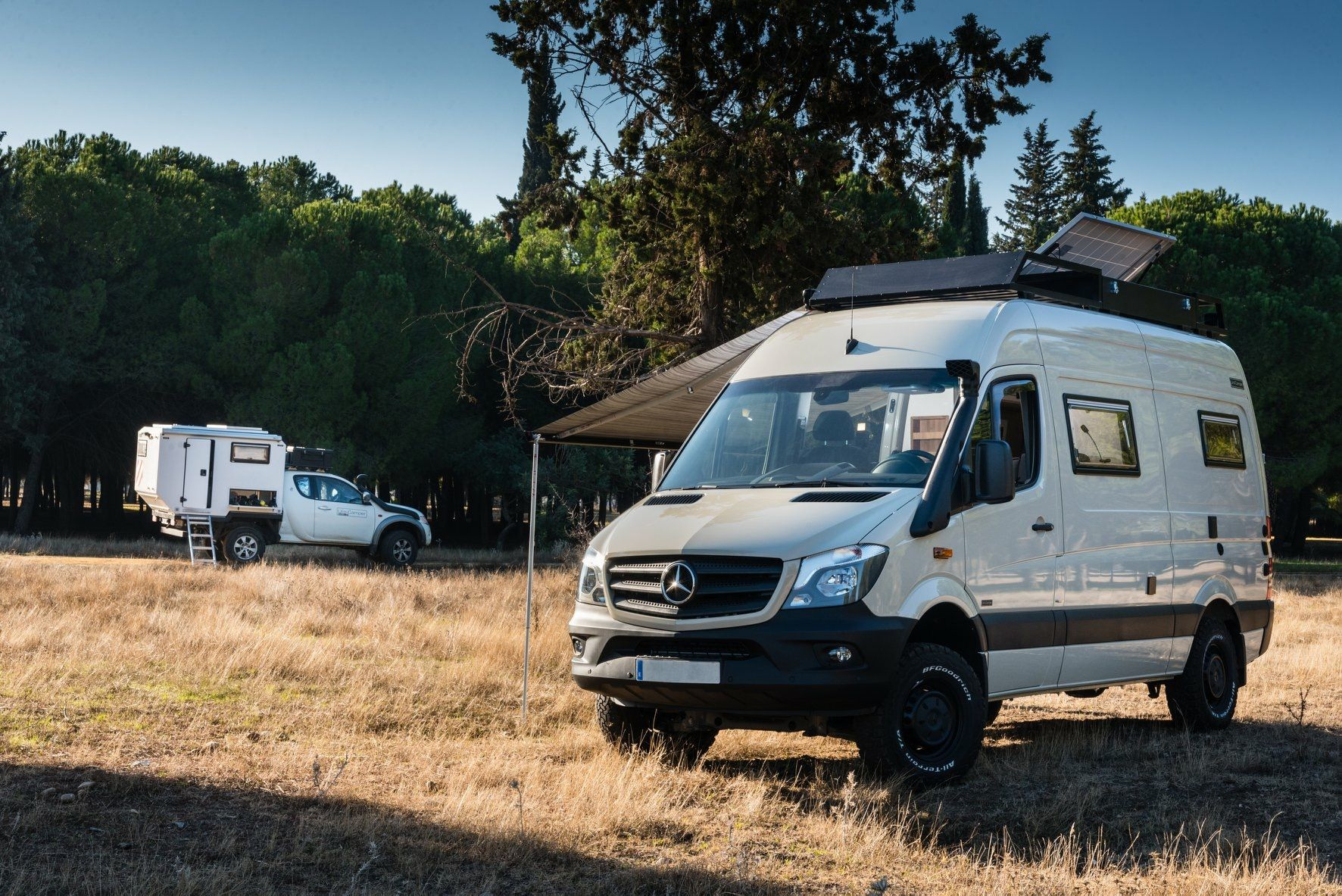 Mercedes Sprinter 4x4 Oryx Uro camper on the road