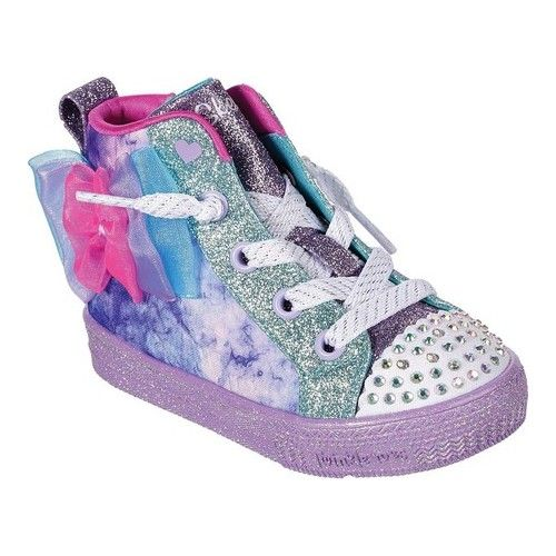 79847feb0111 Infant/Toddler Girls' Skechers Twinkle Toes Shuffle Lite Cutesy Bows High  Top Sneakers