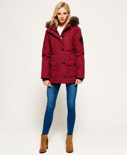 Superdry Everest Parka Jacket Red