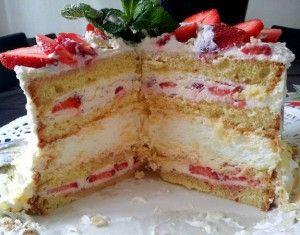 heerlijke slagroom taart