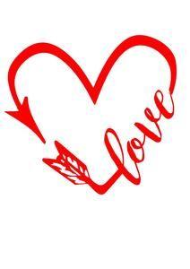 Download Heart love arrow Digital SVG File | Scrapbook quotes ...